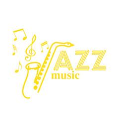 music jazz saxophone background image vector image