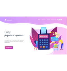 Payment processing concept landing page vector