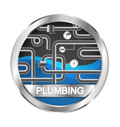 plumbing and water pipe symbol vector image vector image