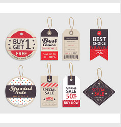 price tags label design set vector image