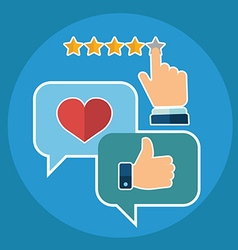 set of customer service in flat style - feedback vector image