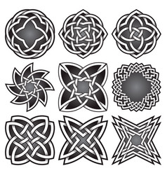 set of logo symbols in celtic knots style vector image