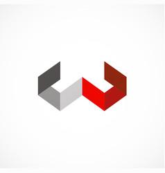Shape letter w shape business company logo vector