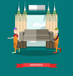 Shipping concept in flat style vector