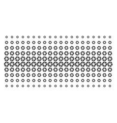 shutter shape halftone grid vector image