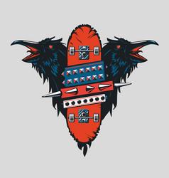 Skateboard vintage poster skate punk emblem vector