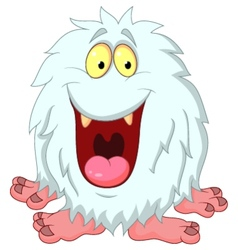 Smiling yeti cartoon vector