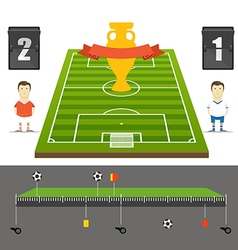 Soccer match statistics template Flat design vector image