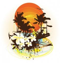 Summer print vector
