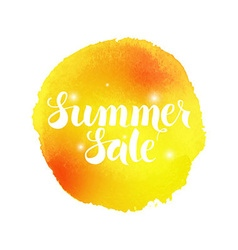 Summer Sale Watercolor Concept vector
