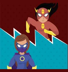 superhero womens cartoon vector image