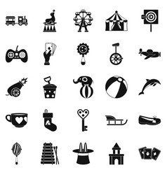 Tad icons set simple style vector