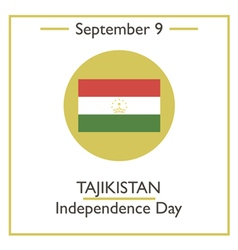 Tajikistan Independence Day vector image
