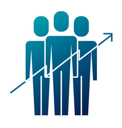 teamwork people growth arrow profit financial vector image