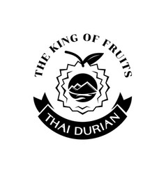 Thai durian king fruit logo vector