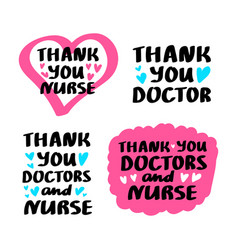 thank you nurse lettering vector image