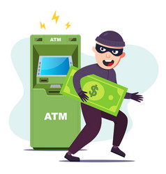 Thief stole money from an atm hacking the vector
