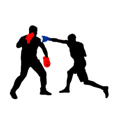 Trainer and boxer silhouette sparing on training vector