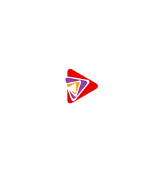 Triangle play colorful media logo vector
