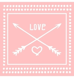 Valentines Day icons heart with arrows vector image