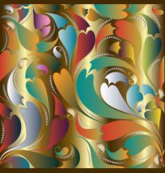 vintage beautiful seamless pattern paisley vector image