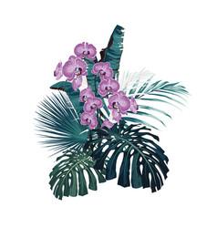 wedding tropical ornament concept vector image