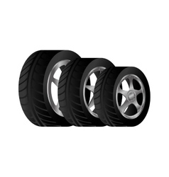 Wheel car emblem icon vector