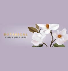 white magnolia romantic floral advertising vector image