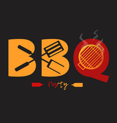 bbq logo vector image vector image