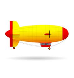 Black airship pirate air transport vector
