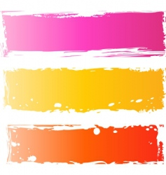 grunge banners multicolored vector image vector image