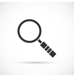 Magnifier icon on white background vector image