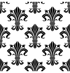 Medieval french floral seamless pattern vector image