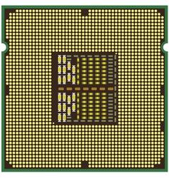 modern computer processor vector image