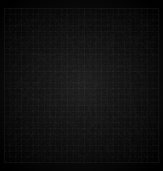 Vintage black graph paper background vector image