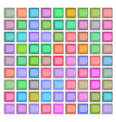 3d square mosaic vintage colorful texture vector image vector image