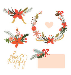 Floral holiday designs vector image