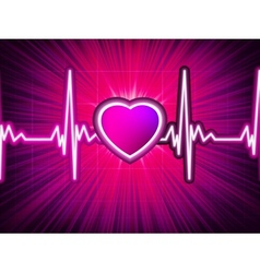 Heart beating monitor with burst EPS 10 vector image