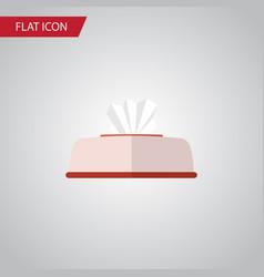 Isolated napkin box flat icon tissue vector