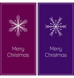 minimalistic christmas greeting cards vector image vector image