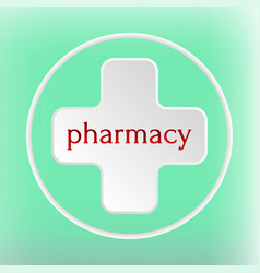 pharmacy logo medicine white plus abstract design vector image vector image
