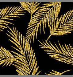 Seamless exotic pattern with palm leaf silhouettes vector