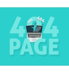 Abstract 404 error page vector image