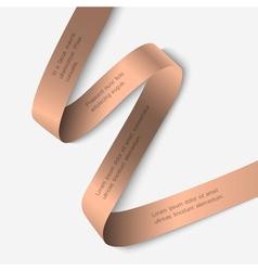Elegant ribbon banner vector image vector image