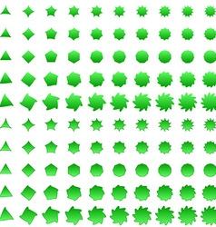 Green deformed polygon shape collection vector