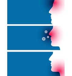 Headache sore throat and pollen allergy vector image