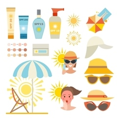 Skin sun protection cancer body prevention vector image