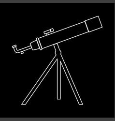 Telescope the white path icon vector