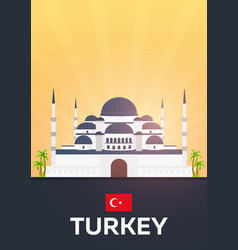 travel poster to turkey flat vector image