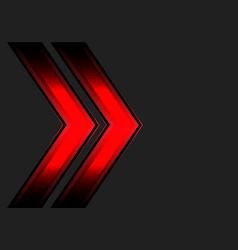 abstract red double arrow light dark gray vector image vector image